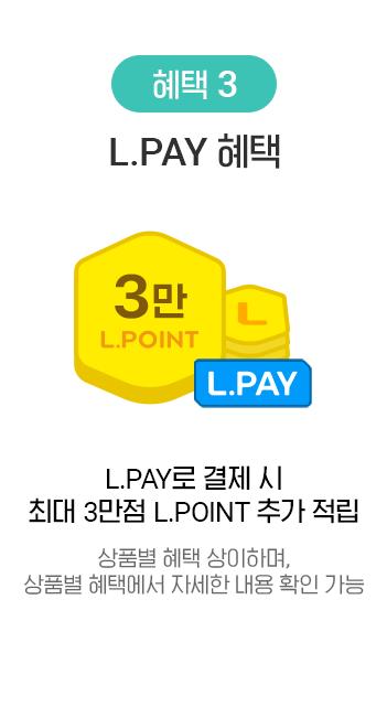 혜택 3 금액대별 L.POINT 페이백