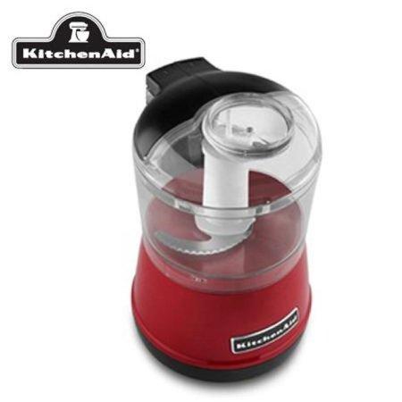 마늘 다지기 5KFC3511WER [레드 / 분쇄기 / 원터치 작동 / BPA free 용기 / 2단계 속도조절 / 스테인리스 칼날]