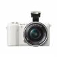 알파 A5100L 미러리스 카메라 렌즈KIT[화이트][본체+16-50mm]