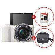 미러리스 카메라 알파 A5100 [화이트 / 본체 + 16-50mm / 16GB메모리+가방 증정 ]