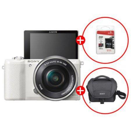 [정품등록이벤트]알파 A5100L 미러리스 카메라 렌즈KIT[화이트][본체+16-50mm][16GB메모리카드+가방 증정]
