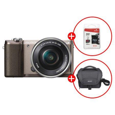 알파 A5100L 미러리스 카메라[티탄][본체+16-50mm][16GB메모리카드+가방 증정]
