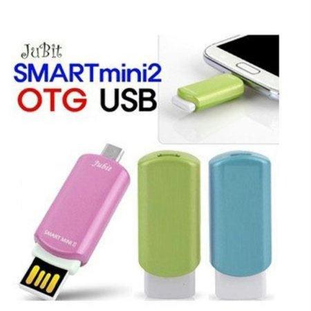 스마트미니2 OTG-USB 8G 메모리 (그린) OTG-USB8GR [ PC의 자료 USB에 복사하여 스마트폰으로 저장 및 바로 실행, 재생가능 ]