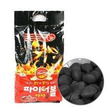 캠핑용숯(차콜) NEW-0102 [파이어볼 야자 숯 (4kg)/ 100% 내추럴 야자차콜재료/ 자극적 냄새없고, 오랜시간 열 유지]