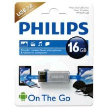 Philips  OTG USB 메모리 16GB CFL-0177 [데이터 암호화, 다양한유털 / 메탈소재]
