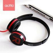 ACTTO 엑토 스테레오 헤드셋 BKS-62 [ 2m 플랫 케이블 / 헤어밴드 조절가능 / 볼륨&마이크 컨트롤러 / USB 단자 ] (CRE-0126)
