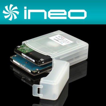 """ineo 하드디스크 보호 케이스(2.5"""" 2Bay) (I-NC07)"""