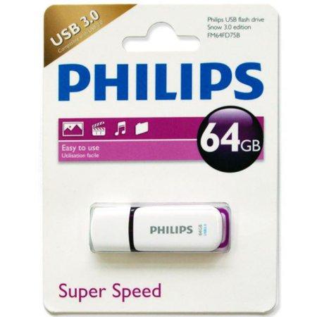 필립스 USB 드라이브(64GB) [색상:퍼플 / 깔끔한 캡타입형 방식]
