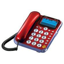 유선 전화기 ASE-702 [CID(수신35개/발신5개) / LCD 액정 / 다이얼 빅버튼 / 테두리 아크릴 벨램프]