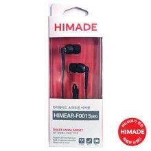 스마트폰 이어셋 HIMEAR-F0015(BK) [블랙 / 커널형 / 무통증 / 리모컨 기능]
