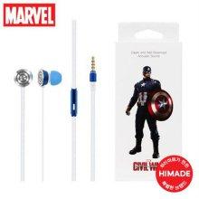 마블 하프 커널형 이어폰 (캡틴아메리카)