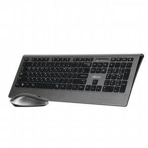 무선 키보드&마우스 셋트 CRG-0123 [ 색상 : 티타늄 / 1000dpi 12개 멀티키 / PC, 노트북, 모바일 색상과 동일한 느낌의 마감 UV 코팅마감 ]