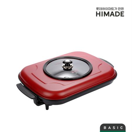 대형팬 HEP-M525P [1600W / 다이아몬드 코팅 / 강화유리 뚜껑 / 팬 가로길이 : 525mm]