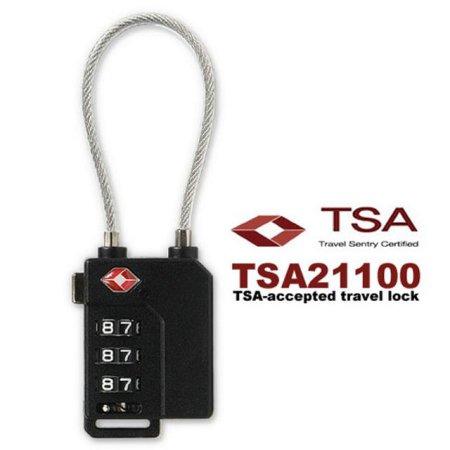 3중번호잠금 와이어자물쇠 TSA21100 실버