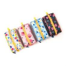 필기용품 화장품 여행용 플라워 파우치필통 핑크