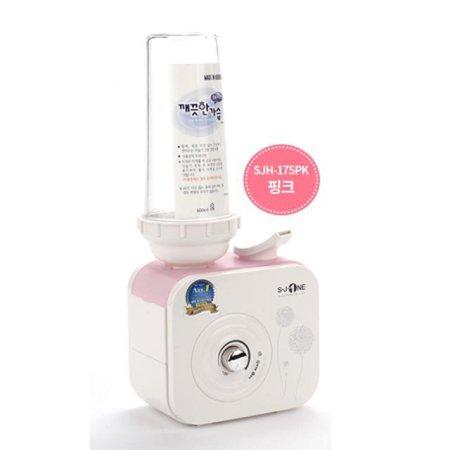 보틀형 초음파 가습기 SJH-175PK [핑크 / 전용PET포함 / 무드램프]