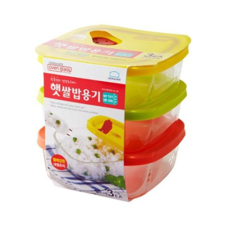 오븐글라스 햇쌀밥용기 320ml 3개세트