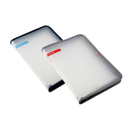 심플한 사무용품 지퍼 파일 케이스 39105 레드