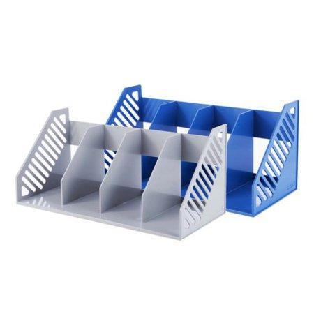 심플한 사무용품 책꽂이4단 42114 블루