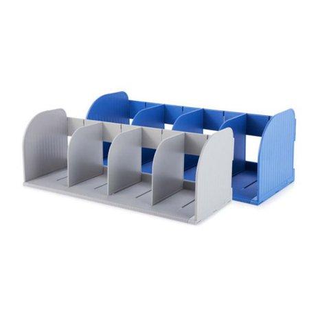 심플한 사무용품 점보 책꽂이 조립식 42115 블루