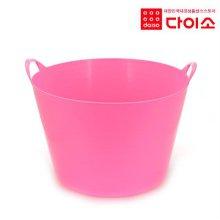 10992_ 리빙원형세탁바구니(대) 핑크/옐로우/퍼플-50314