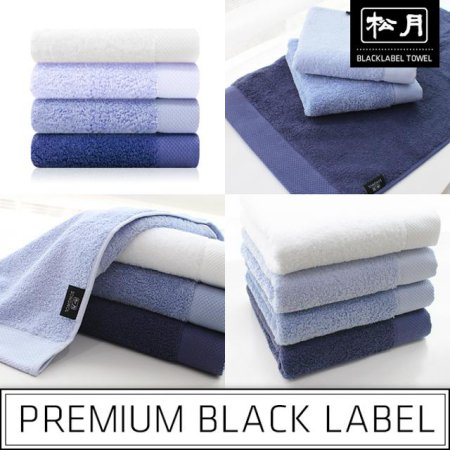 40수 블랙라벨-인디고블루라인 세면타올 파랑