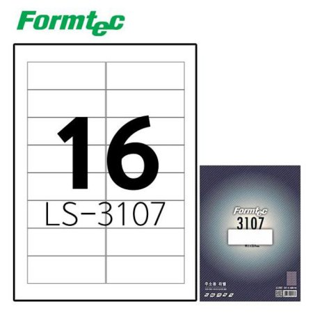 레이저잉크젯 라벨 LS-3107 100매입