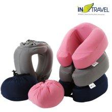 휴대용 메모리폼 목베개 (핑크)