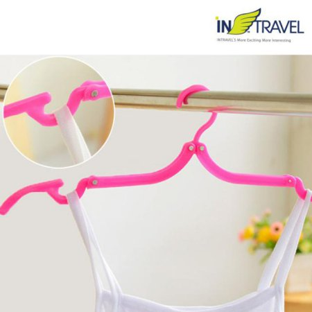 휴대용 접이식 옷걸이(핑크) NO.1177