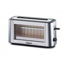 퍼소나 투명 유리 토스터 TOG800CL [롱슬롯 1구 / 1300W / 스테인레스 / 5단계 굽기조절 / 빵 부스러기 받침대]