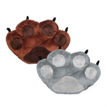겨울 필수품 따뜻한 곰발바닥 디자인 핸드워머 쿠션 브라운