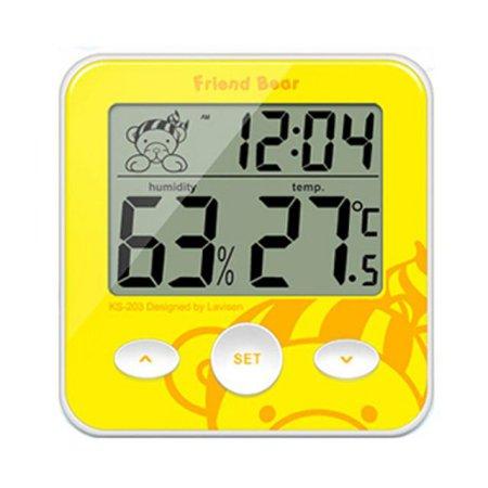 아기곰 디지털 온습도계 KS-203 (옐로우)