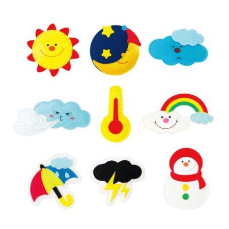 유아 교육자료 날씨(9종) 1set