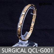 써지컬 게르마늄 자석 팔찌 QCL-S001 (골드 L)