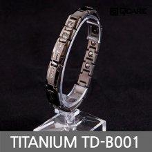 티타늄 게르마늄 자석 팔찌 TD-B001 (다크그레이 S)