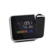 온습도 달력 LCD 인테리어 프로젝터 시계 스마트빔 블랙