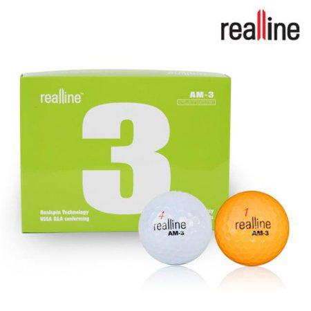골프공 AM-3 (12알/3피스)/골프용품/골프볼 리얼라인_골프공_화이트