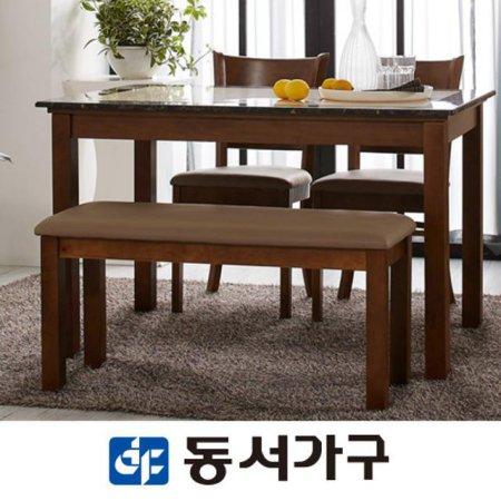 컨셉트K 4인 대리석 벤치형식탁세트 DF630991 (화이트)