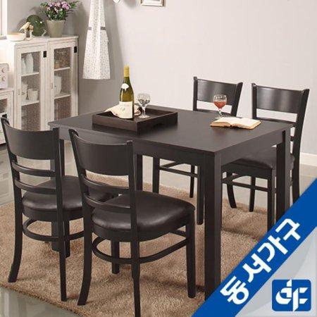 케빈 4인용 식탁테이블(의자미포함) DF629500 (화이트)