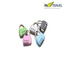 여행용 자물쇠 핸드백형 [색상랜덤발송]
