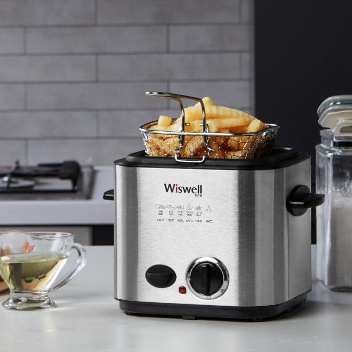 위즈웰 WH2100 딥프라이어 미니 튀김기 (실버) [하이마트]