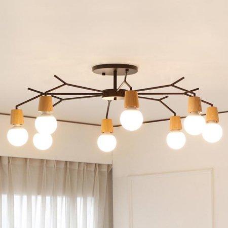 [LED] 보우 8등 거실등 화이트:전구색(노란빛)