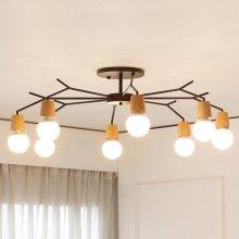 [LED] 보우 8등 거실등 화이트:주광색(하얀빛)