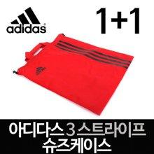 1+1 ★정품★ 3스트라이프 슈즈케이스/신발주머니 (레드)