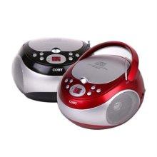CD카세트 MP-CD371 [ 레드/ LED 트랙 안내 표시/FM 라디오 기능 ]