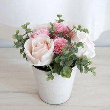 카네이션 장미 믹스 포트_핑크화이트