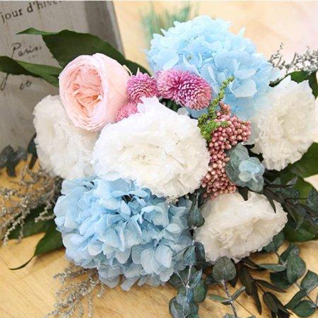 [프리저브드플라워] 라넌큘러스&수국 꽃다발