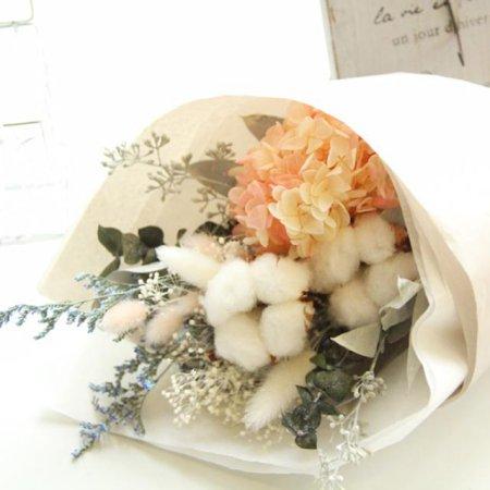 [프리저브드플라워] 목화&수국꽃다발