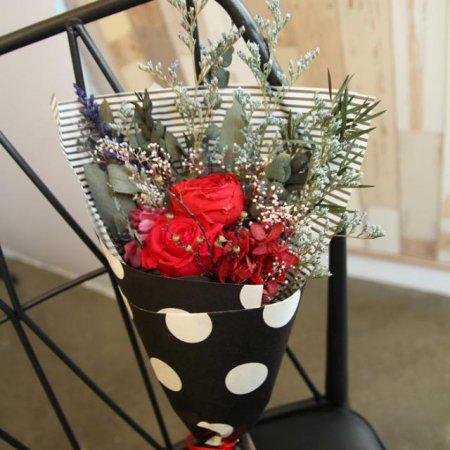 [프리저브드플라워]잉글랜드로즈&리시안꽃다발