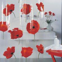 포피 샤워커튼 (꽃)